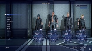 Final Fantasy XV menu