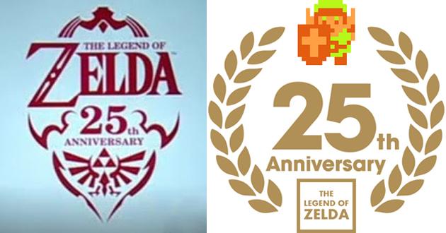 Zelda 25th Anniversary Logos