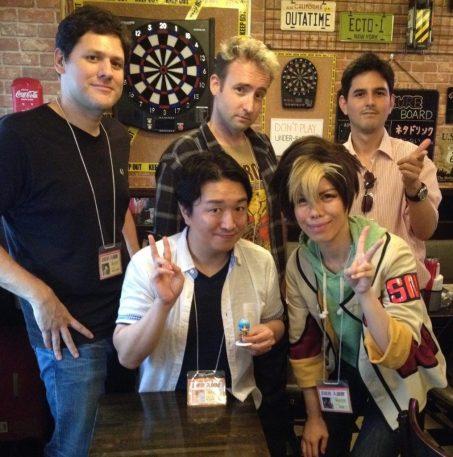 The SpeakerPODcast Crew & Hisame with Tsutomu Takayama.