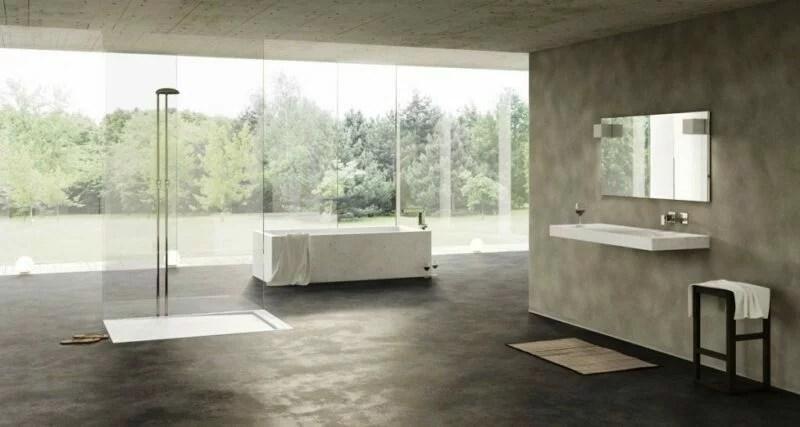 Modern Mermer Banyo