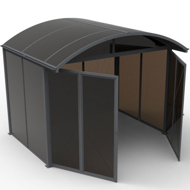 abri de jardin aluminium refermable integralement surface 7 20m
