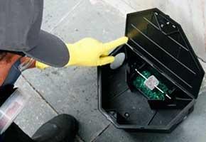 Caixa porta isca para ratos