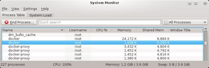 Low memory usage