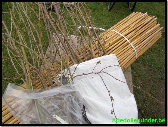 Aankoop van 200 bamboetakken