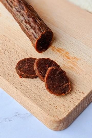 Chorizo de calabaza vegano