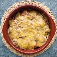 Patatas al horno con bechamel