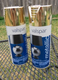I used Valspar metallic in Brilliant Gold (#66009).