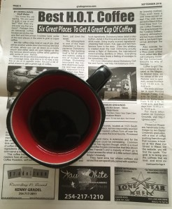 The coffee house article in The Groove