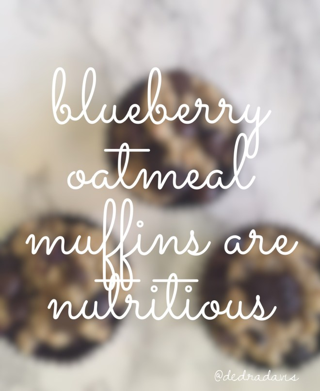 Blueberry Oatmeal Muffins that are nutritious