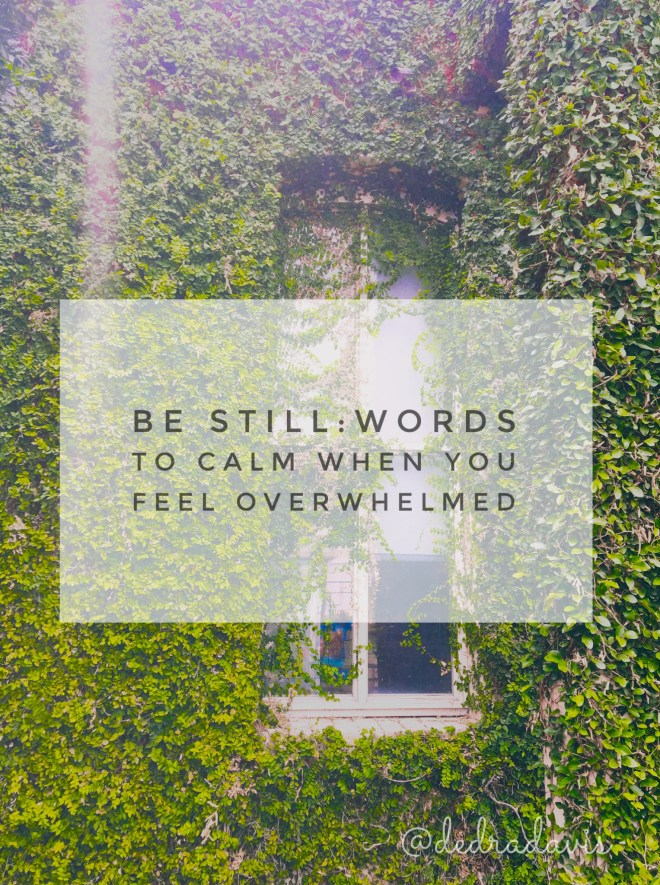 Be Still: words to calm when you feel overwhelmed