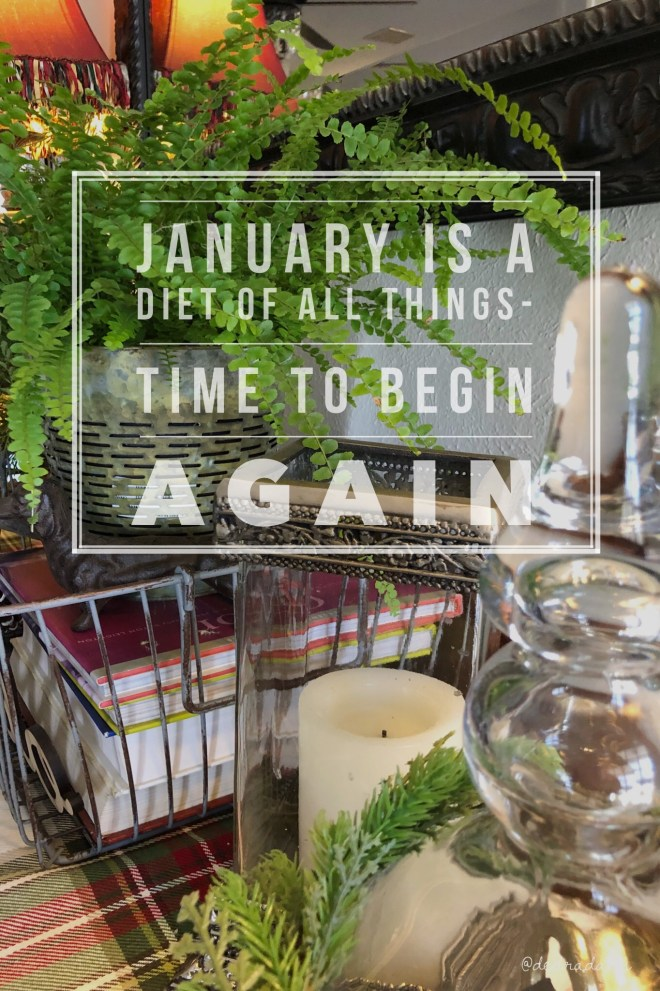 Januaryis a diet of all things-time to begin again