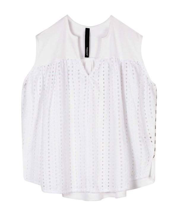 Top Broderie - 10DAYS - White