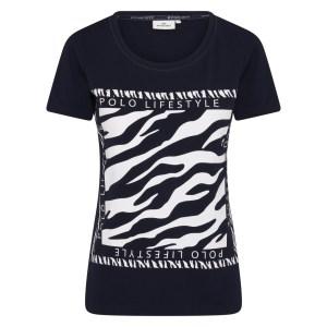 T-shirt Isabel Zebra - HV SOCIETY - Donkerblauw