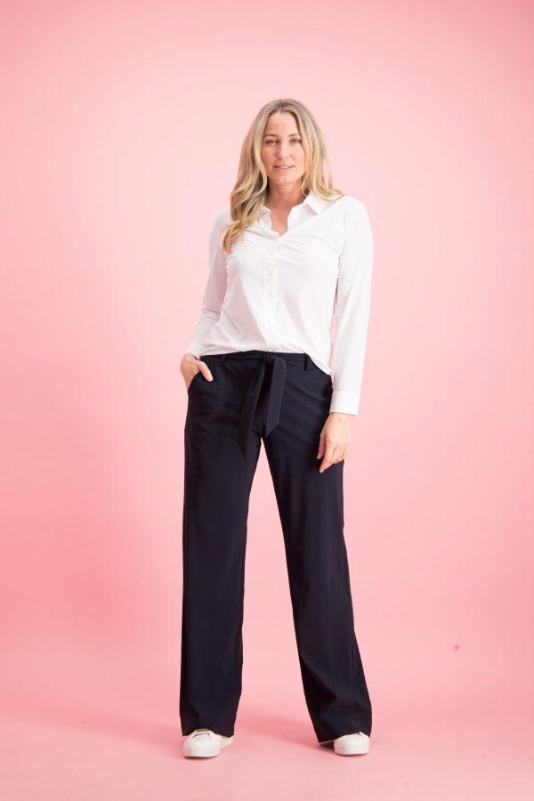 Marilyn Long Trousers – Studio Anneloes – Donkerblauw Studio Anneloes Broek