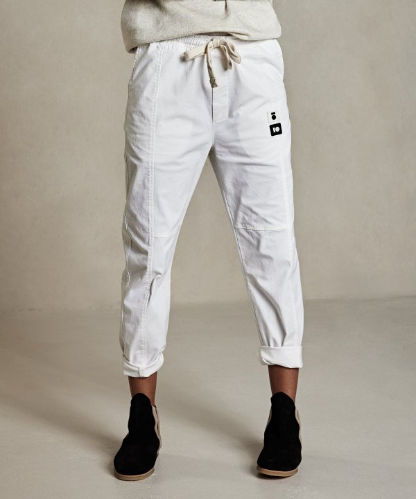 Pants Cotton – 10DAYS – New White 10Days Broek