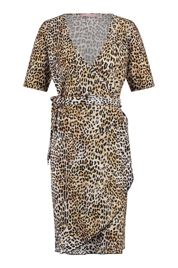 Tanja Leopard Dress - Studio Anneloes - Camel