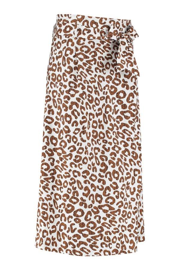 Sadie Leopard Skirt - Studio Anneloes - Off White Caramel