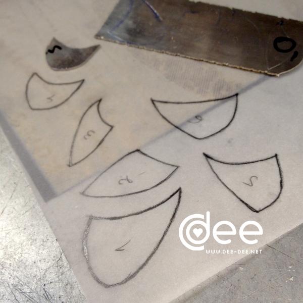 desenho das chapas a cortar