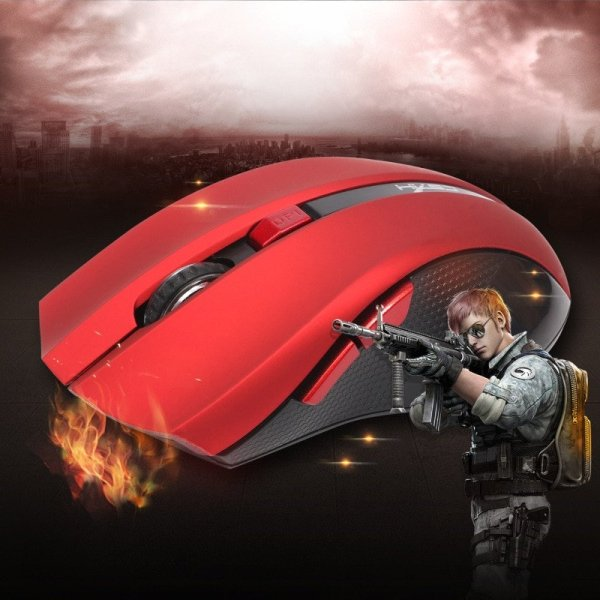 Wireless Digital Red Optical Mouse Deecomtech Store