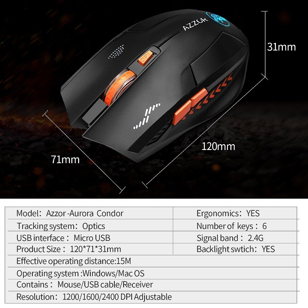 Wireless Mouse Optical Gaming Silent for PC Laptop Computer Noiseless