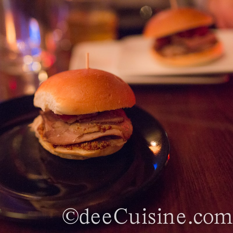 Bistro 7 Duck Prosciutto Sliders