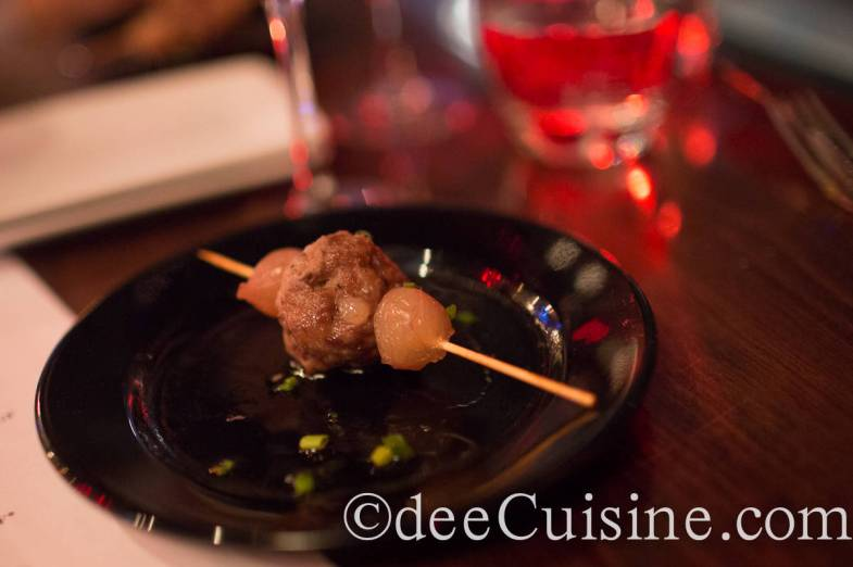 Pork Meatball Skewer