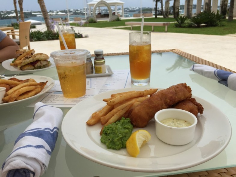 Fish & Chips at Crown & Anchor Bermuda by deecuisine.com