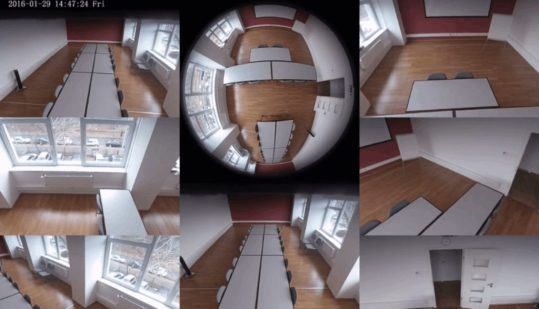 26 - Sunell Fisheye camera - Conference room