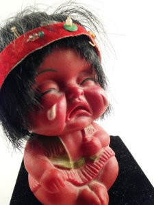 crying native american doll