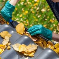 Fall Leaves Clogged Gutters