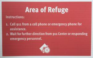 my area of refuge