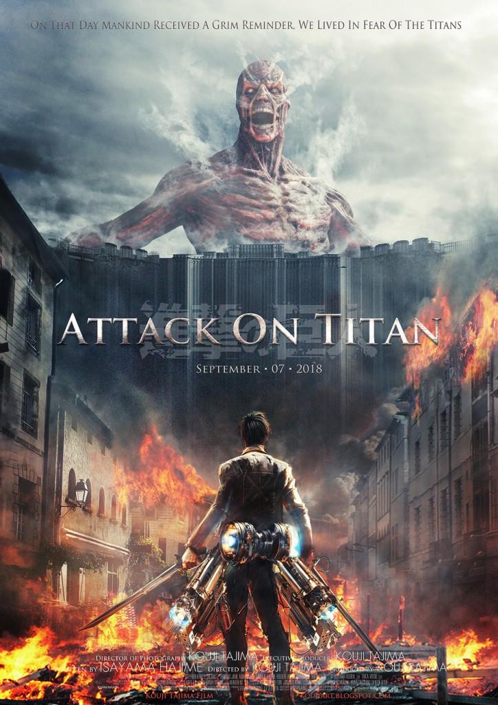 Affiche non officielle du film « Shingeki no Kyôjin » créée par Kôji Tajima