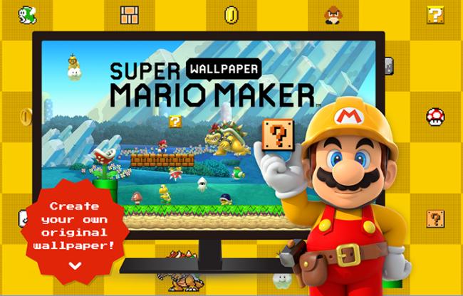 Créer son fond d'écran Super Mario Maker