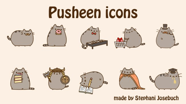 stickers Pusheen the Cat