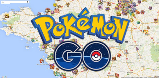 pokemon go carte google