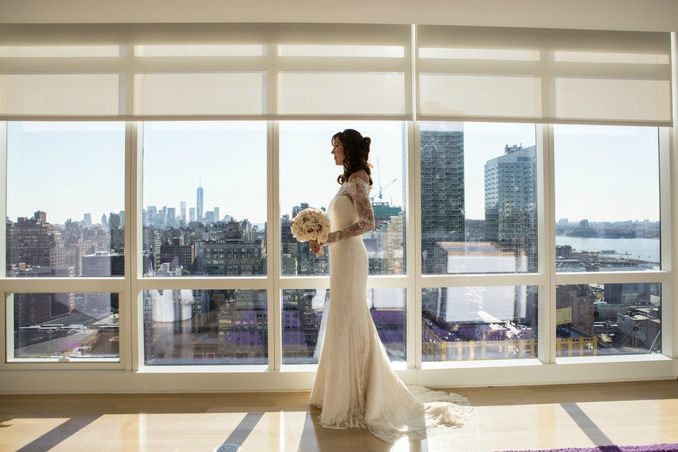 NYC Chic Winter Wedding ǀ Dee Kay Events ǀ Wedding Consultant ǀ Wedding Design ǀ Bride Dress and Bouquet