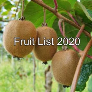 Fruit List 2020