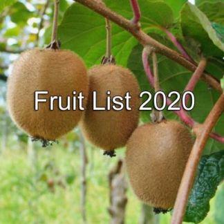 Fruit List 2020