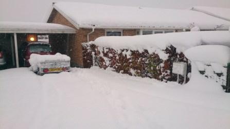 Sne foran Halfdans hus