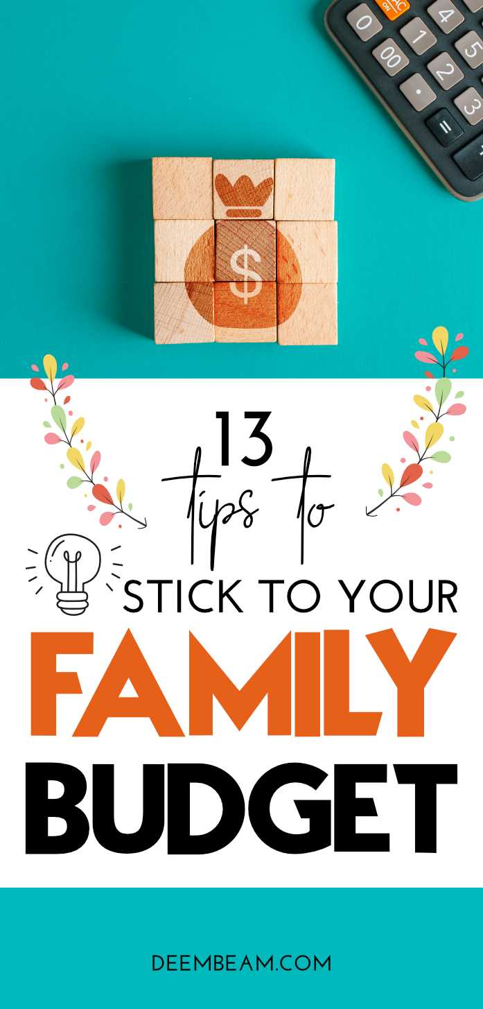 how to stick to your family budget