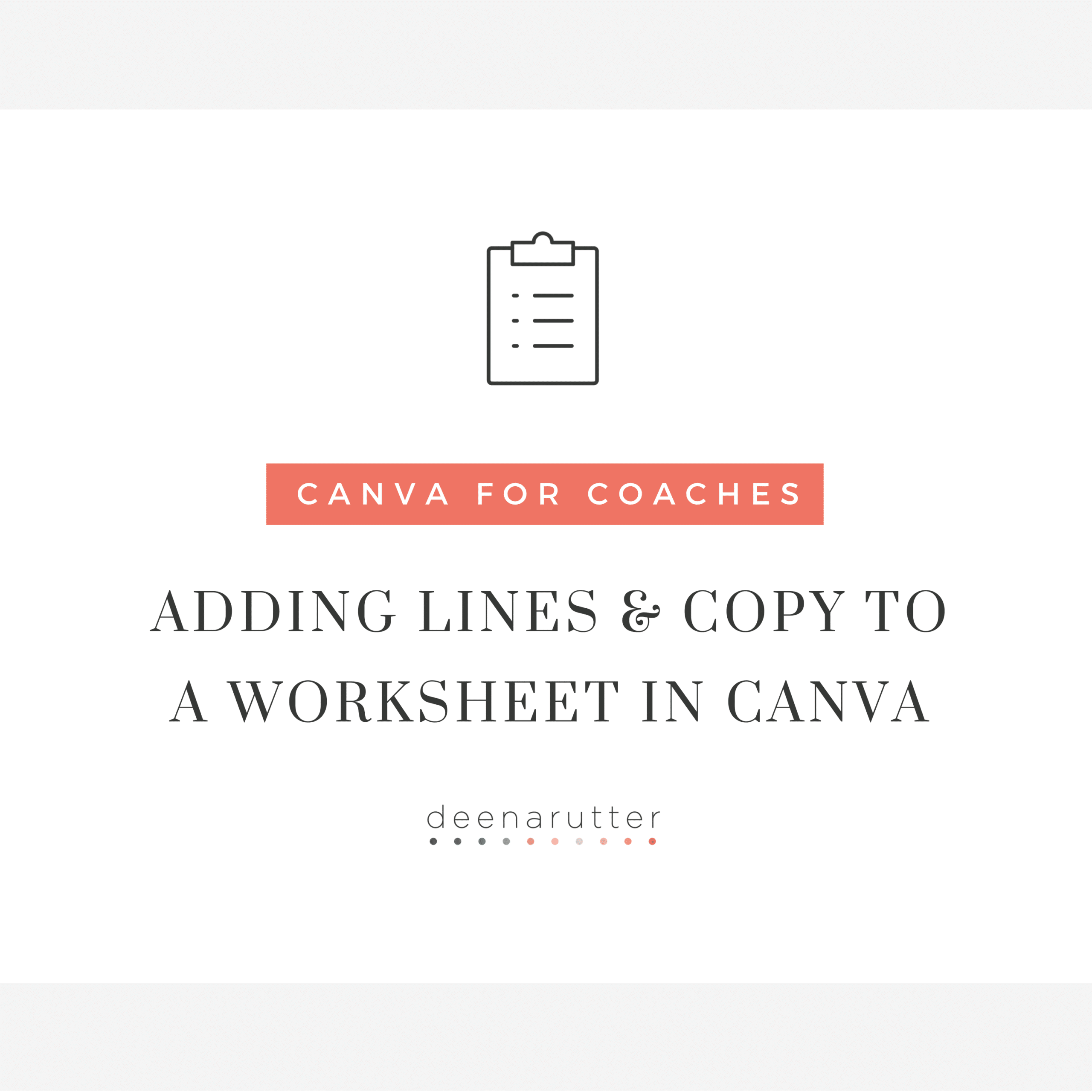 Adding Lines Amp Copy To A Worksheet In Canva