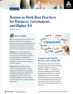 return to work best practices