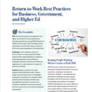 Return-to-Work Best Practices for Business, Government & Higher Ed