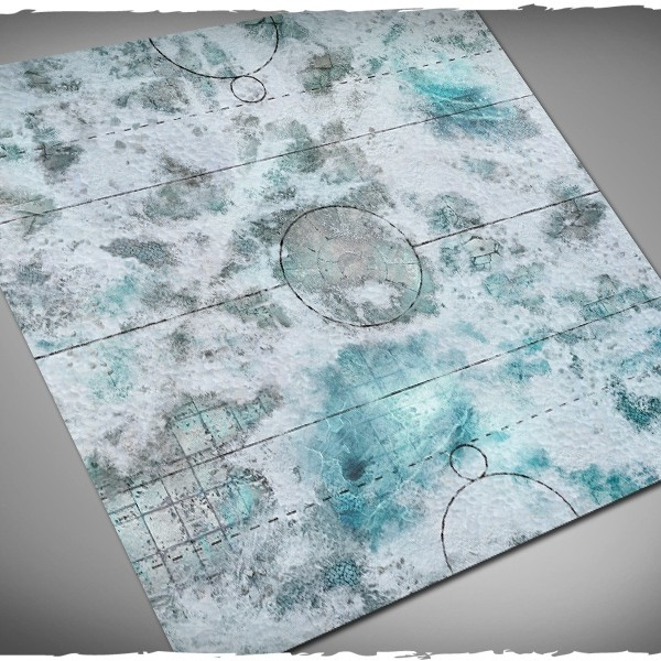 guildball game mat frostgrave snow 1