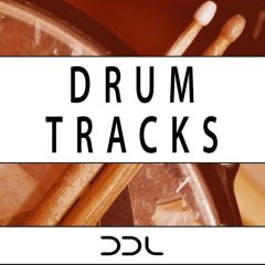 Drum Tracks <br><br>&#8211; 40 Full Beat Loops, 175 Drum Element Loops (Kick, Snare, Hihat, Ride, Crash, Toms), All Up To 24 Bars Long, 1.33 GB, 16 Bit Wavs.