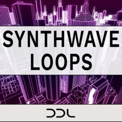 Synthwave Loops <br><br>– 280 Wav Loops, 120 MIDI Files, 800 MB, 24 Bit Wavs.