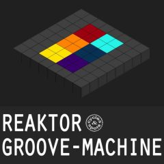 Reaktor Groove Machine <br><br>– 1 Instrument For NI Reaktor (Full Version 6.1 & Higher)(20 Snapshots, 552 Drum & Sound One-Shots), 419MB.