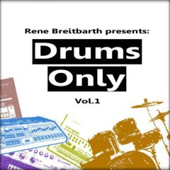 Rene Breitbarth – Drums Only Vol.1 <br><br>– 735 Drum Loops, Kick Loops, Snare Loops, Hihat Loops, Percussion Loops, Source: Machines & Drum Set, 115 BPM to 130 BPM, 980 MB, 24 Bit Wavs.