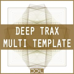 Deep Trax Multi Template <br><br>&#8211; 1 Template For Ableton Live Suite (9.7 Or Higher), 43 Clips (For Kick, Hihat, Clap, Perc, Chords &#038; Bass Patterns), 5 Customizable Instruments (Drums, Perc, Chords, Bass), 127 Perc Shots, 20 Kick Shots, 20 Hihat Shots, 20 Clap, Shots, 20 Sounds For Chords, 8 Operator Bass Sounds, 128 MB, 24 Bit Wavs.