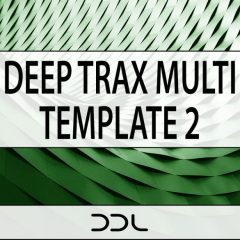 Deep Trax Multi Template 2 <br><br>&#8211; 1 Ableton Live Project File Template (9.7&#038;Higher), 1 NI Reaktor Blocks Ensemble (Full Version 6.1 &#038; Higher), 161 Loops &#038; One-Shots, 180 MB, 24 Bit Wavs.